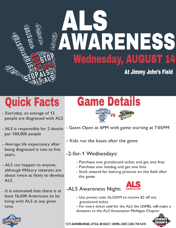 Jimmy Johns 2019 8-14 ALS Awareness Event